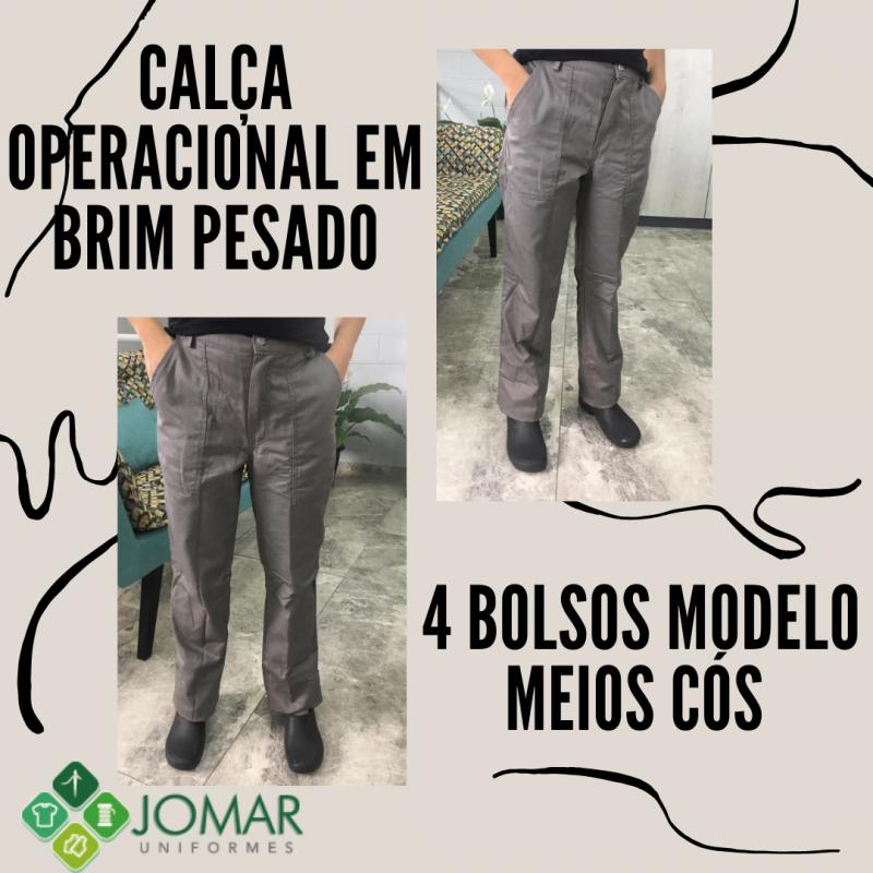 CALÇA EM BRIM MODELO 9