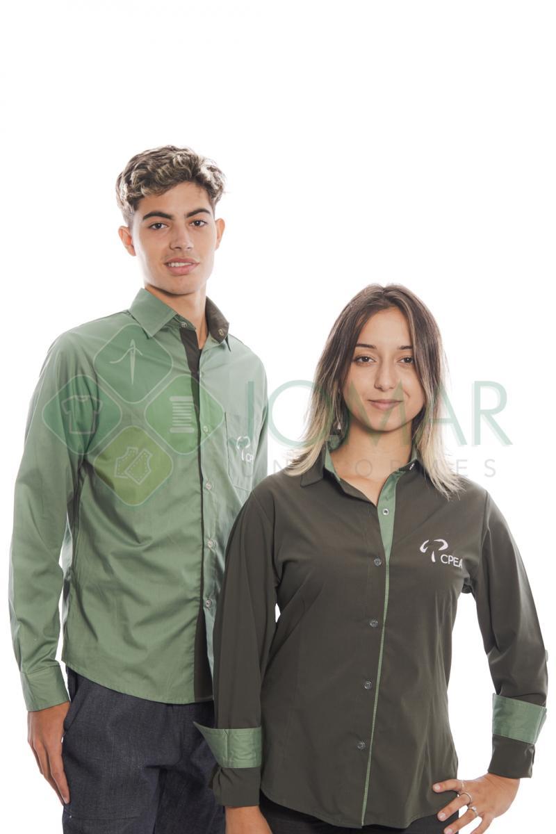 Camisa Administrativa Masculina Modelo 10